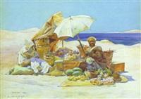 le marchand de fruits et légumes by louis-ernest lessieux