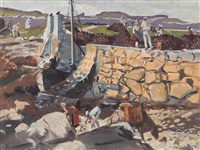 connemara harbour by maurice macgonigal