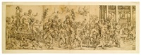 triumph of bacchus and silenus by cornelis bos