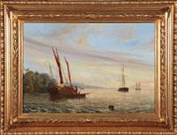 voilier au mouillage by hermann kraemer