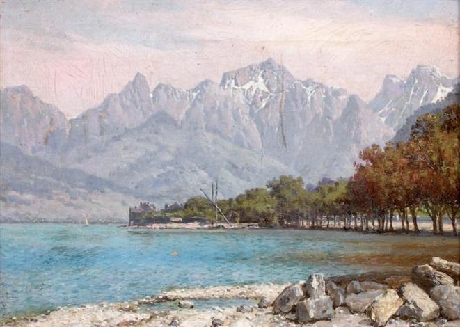 evian les bains lac de genève by william baptiste baird