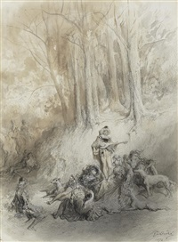 in a woodland by gustave doré