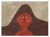 cabeza en rojo, 1979 by rufino tamayo