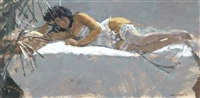 dora, silver and white by ken howard