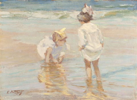 at the shore by edward henry potthast