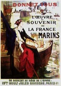 donnez tous à l'oeuvre du souvenir de la france à ses marins (poster) by simon