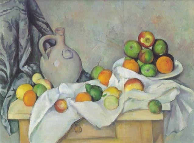 rideau cruchon et compôtier by paul cézanne