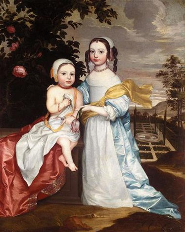 portrait of two children by john hayls