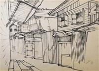 street scene i by montien boonma