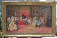 les hommages du cardinal à son altesse royale by attilio simonetti