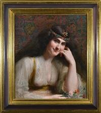 orientalist woman by severo rodriguez etchart