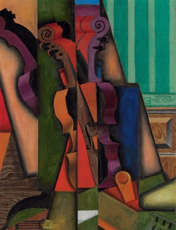 violon et guitare by juan gris