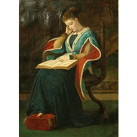 woman reading by james archer