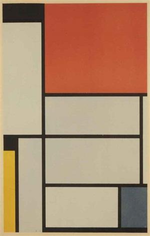 der sieg der farbe p mondriaan composition no 1 by piet mondrian