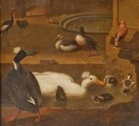 canards et aigrettes dans un parc by marmaduke cradock
