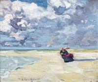 bretonne sur la plage by jean julien lemordant