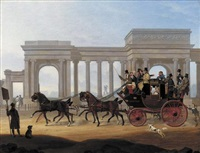 the defiance coach at hyde park corner by henry boughton
