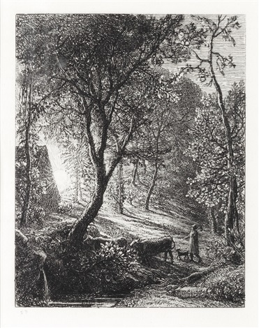 the herdsmans cottage or sunset by samuel palmer