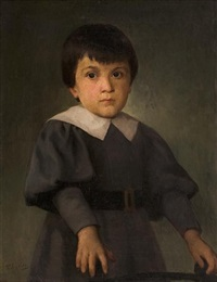 portrait of a boy by polychronis lembessis