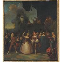 la fête galante by jean antoine watteau