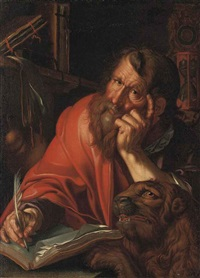 the evangelist mark by joachim anthonisz wtewael