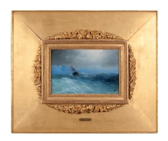 navire dans la tempête by ivan konstantinovich aivazovsky