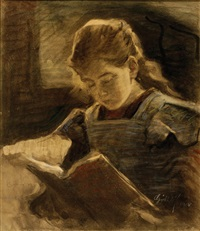 reading girl (sari) by moricz goth