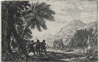 scène de brigands by claude lorrain