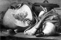 nature morte au potiron by charles-jules-nestor bavoux