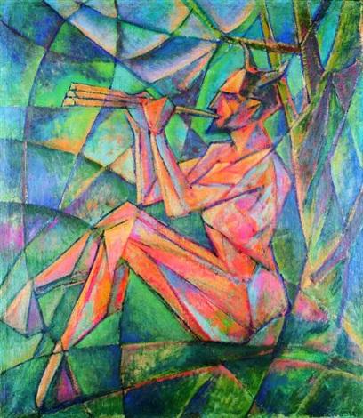 pan grający na fletni by jerzy hulewicz