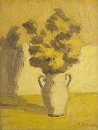 untitled - still life of flowers by william goodridge roberts