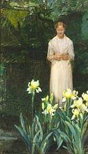 irises by anna kirstine ancher