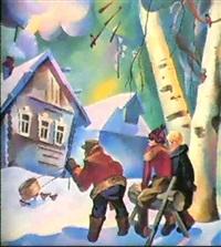 les chasseurs de la campagne by victor abramian