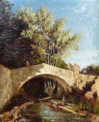 lavandière sous le pont by paul camille guigou