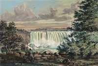 horse shoe fall, niagara by william armstrong