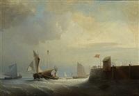 voiliers prenant la mer by nicolas baur
