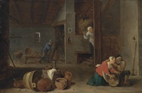 the husband surprised by david teniers the younger