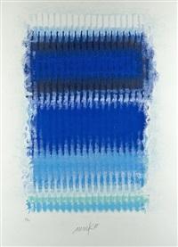 blaue strukturen by heinz mack