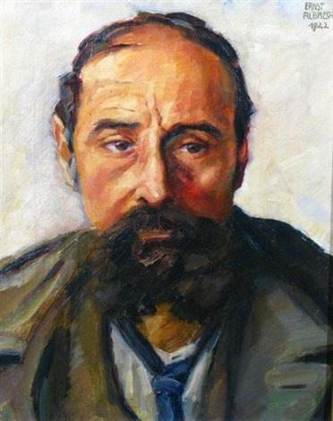 portrait dhomme by ernst albrecht