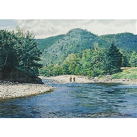 ross pool, ns (+ tranquil inlet with fish huts; 2 works) by henry mcdaniel
