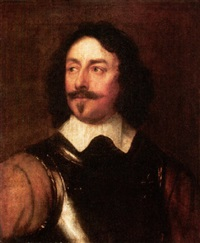 portrait of an officer wearing armour by william dobson