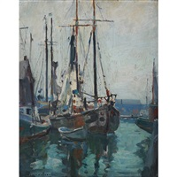 the harbour, early morning by manly edward macdonald