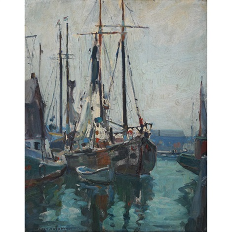 the harbour early morning by manly edward macdonald