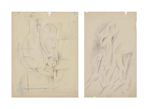 still life and seated nude 2 works by otto gutfreund