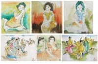 watercolor series (6 works ) by momon