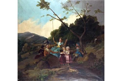 el columpio (after goya) by francisco-javier amerigo y aparici