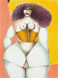 femme sur fond jaune by richard lindner