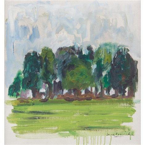 wooded landscape by jane freilicher