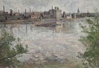 a view down the thames by louise pickard