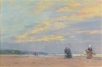 la plage de berck by eugène boudin